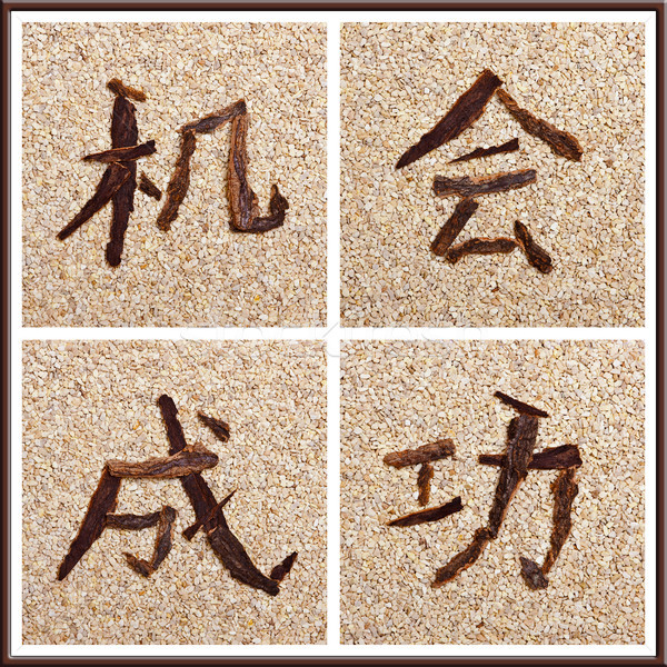 Concept Chinese characters for chance and success Stock photo © Pasiphae