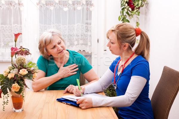 医師 シニア 会話 小さな 女性 医療 ストックフォト © Pasiphae