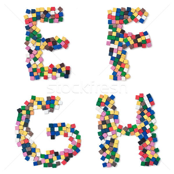 children EFGH complete Font available Stock photo © Pasiphae