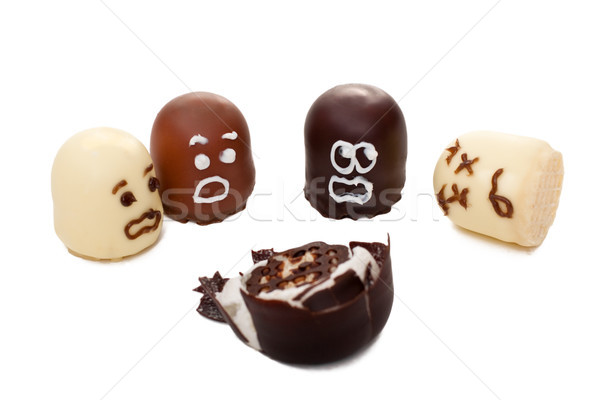 Concept marshmallow show terrible accident Stock photo © Pasiphae