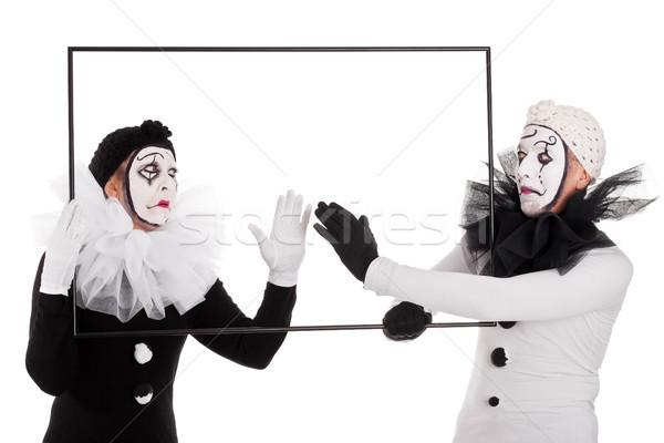 Due pulizia vuota foto Coppia donna Foto d'archivio © Pasiphae