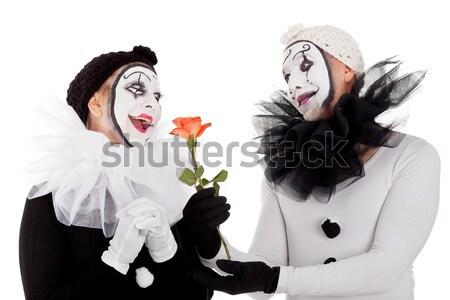Coppia cuore mani donna party Foto d'archivio © Pasiphae