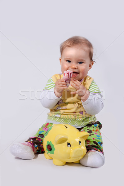 お金 貯金 女性 赤ちゃん 笑顔 ストックフォト © Pasiphae