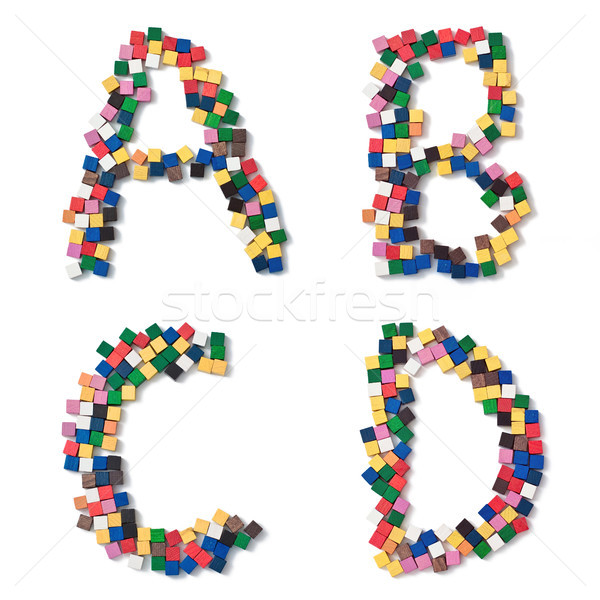 children ABCD complete Font available Stock photo © Pasiphae