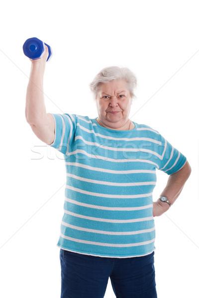 старший фигурные скобки старуху женщину успех Сток-фото © Pasiphae