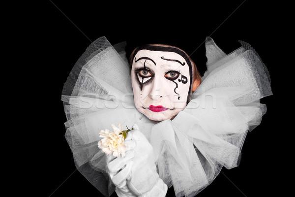 Feminino palhaço lovesickness flor fundo Foto stock © Pasiphae