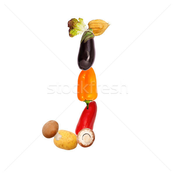The letter j in various fruits and vegetables Stock photo © Pasiphae