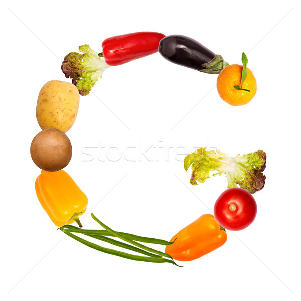 The letter g in various fruits and vegetables Stock photo © Pasiphae