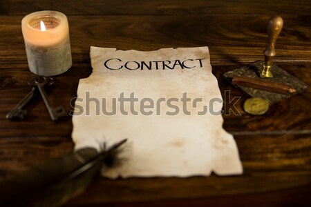 Aláírás papír háttér irat történelem antik Stock fotó © Pasiphae