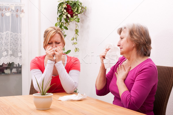 two women are cold or sad Stock photo © Pasiphae