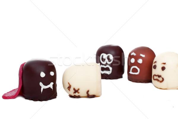 マシュマロ 吸血鬼 ハロウィン 面白い 顔 チョコレート ストックフォト © Pasiphae