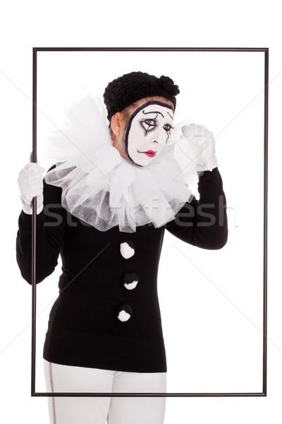 Femminile clown frame piangere donna party Foto d'archivio © Pasiphae