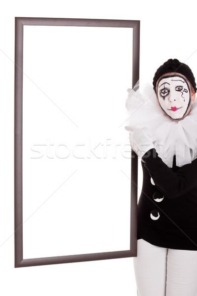 Feminino palhaço vazio quadro mulher festa Foto stock © Pasiphae