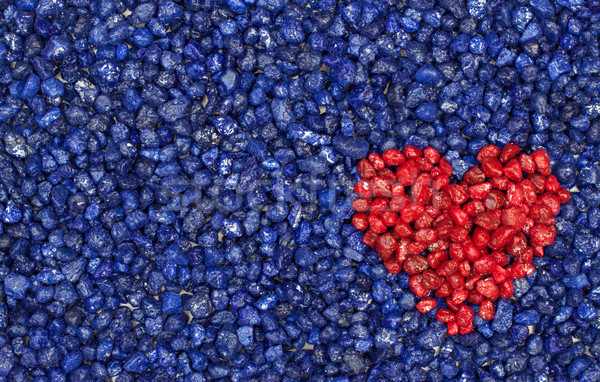 red heart on blue background Stock photo © Pasiphae