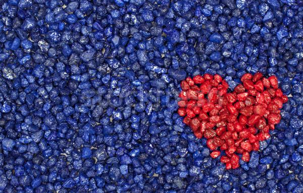 красный сердце синий каменные романтика медитации Сток-фото © Pasiphae