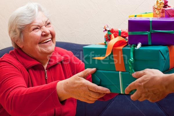 женщины старший давать многие представляет вечеринка Сток-фото © Pasiphae