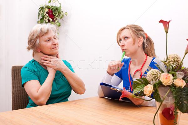 врач старший женщины медицинской белый человек Сток-фото © Pasiphae