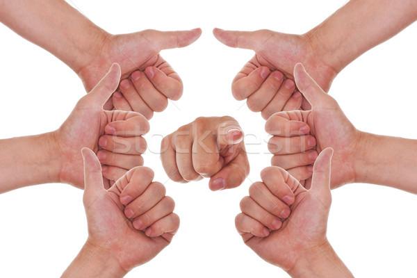 手 サークル 指 ポイント ストックフォト © Pasiphae