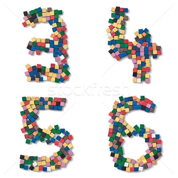 子供 フォント アルファベット 番号 ストックフォト © Pasiphae