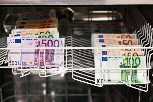 Banknotes in the dishwasher Stock photo © Pasiphae