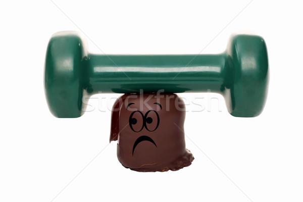 圧力 1 ビジネス 顔 チョコレート 背景 ストックフォト © Pasiphae