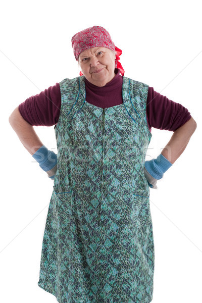 Senior braces his hands on his hips Stock photo © Pasiphae