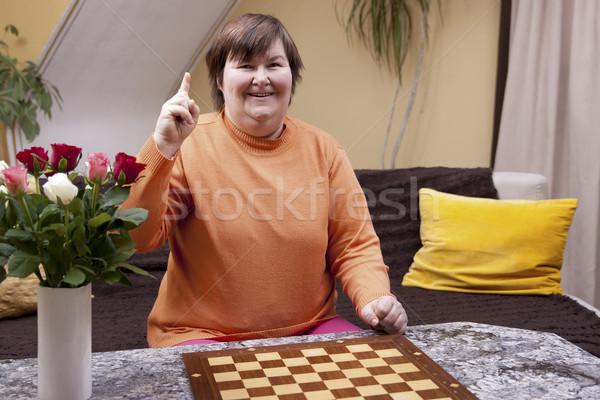 инвалидов женщину Идея улыбается счастливым домой Сток-фото © Pasiphae
