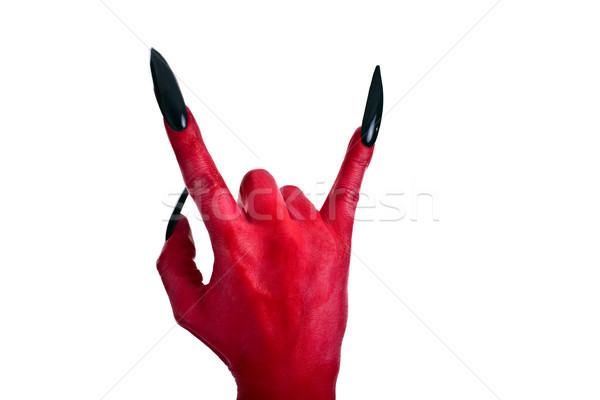 red devil´s hand 3 Stock photo © Pasiphae