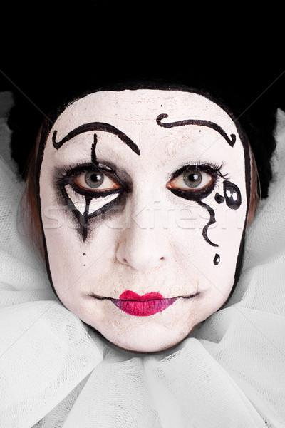 portrait of an sad female clown Stock photo © Pasiphae