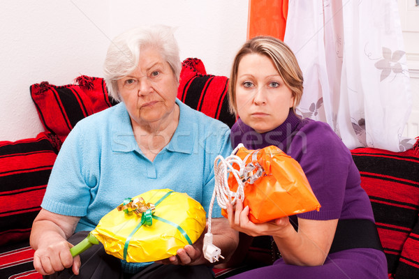 old and young woman getting improper gifts Stock photo © Pasiphae