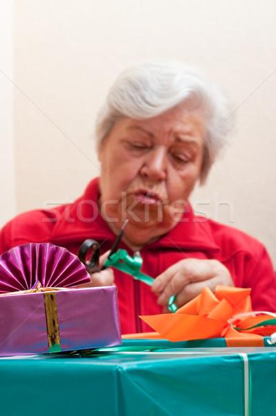 Presenteert vrouwelijke partij Stockfoto © Pasiphae