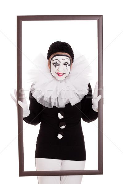 женщины клоуна кадр глядя сердиться женщину Сток-фото © Pasiphae