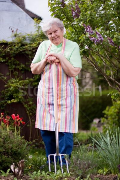 庭園 女性 幸せ 仕事 女性 ストックフォト © Pasiphae