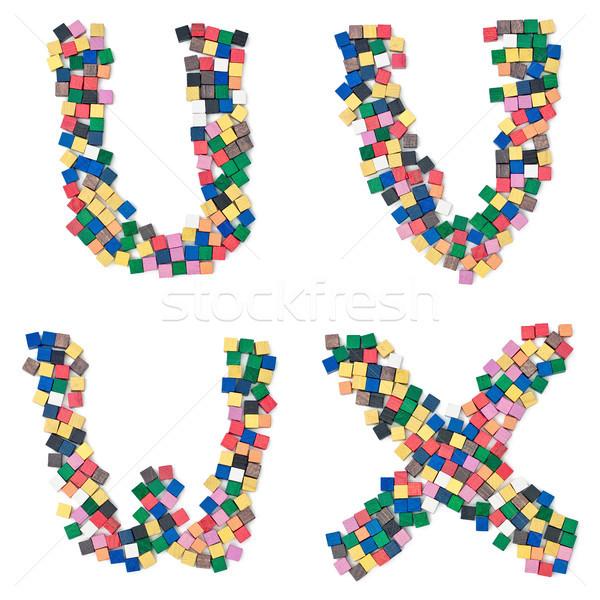 children UVWX complete Font available Stock photo © Pasiphae