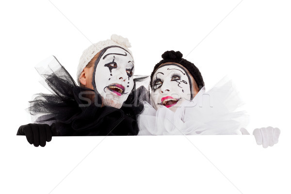 two clowns are looking impressed Stock photo © Pasiphae