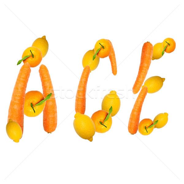 エース 手紙 果物 3  食品 フルーツ ストックフォト © Pasiphae