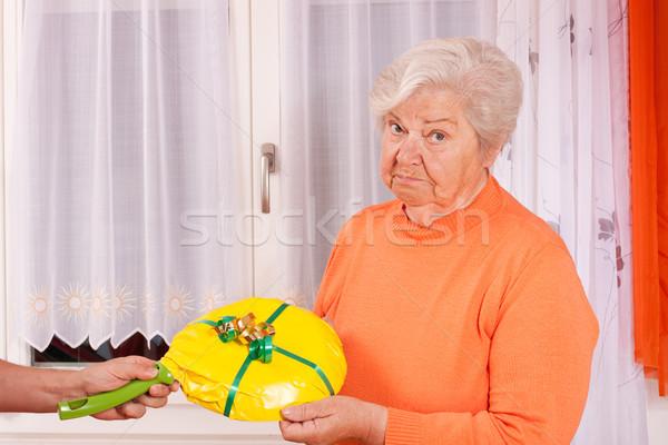 Feminino senior mudo dom amor aniversário Foto stock © Pasiphae