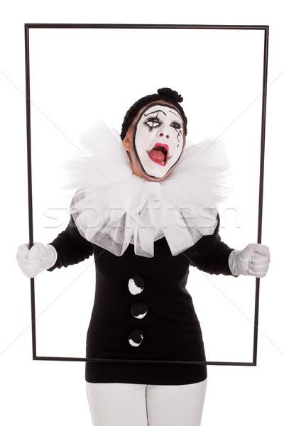 женщины клоуна кадр плачу женщину вечеринка Сток-фото © Pasiphae