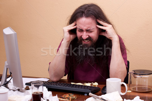 man is revised and gets headache Stock photo © Pasiphae