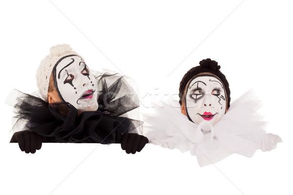 Deux drôle regarder au-dessus frontière couple Photo stock © Pasiphae