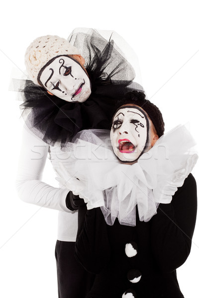 a couple sorrowful clowns isolated  Stock photo © Pasiphae
