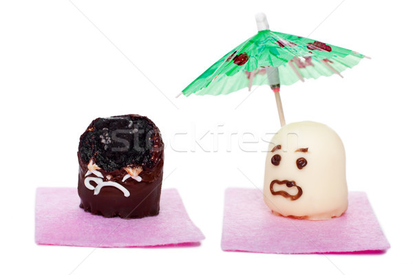 two marshmallows concept sunscreen Stock photo © Pasiphae