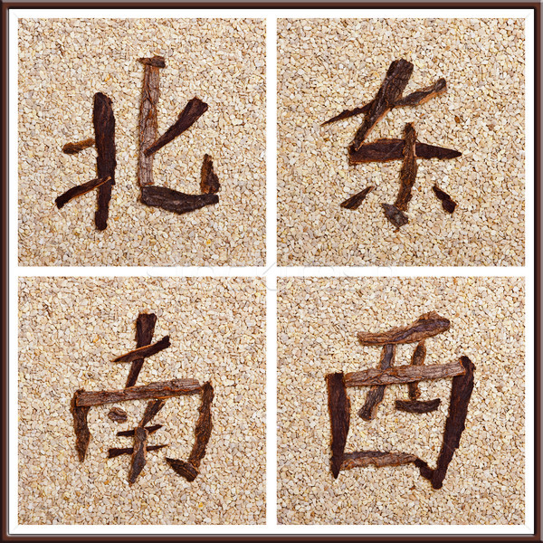 Chinese character for all directions Stock photo © Pasiphae
