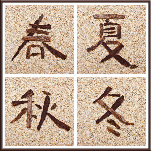 Chinese characters for all seasons Stock photo © Pasiphae