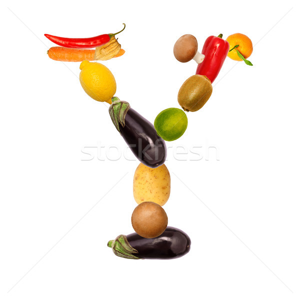 The letter y in various fruits and vegetables Stock photo © Pasiphae