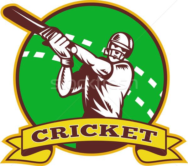 cricket batsman batting Stock photo © patrimonio