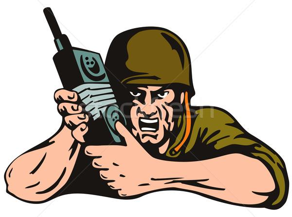 Soldier with Radio Stock photo © patrimonio