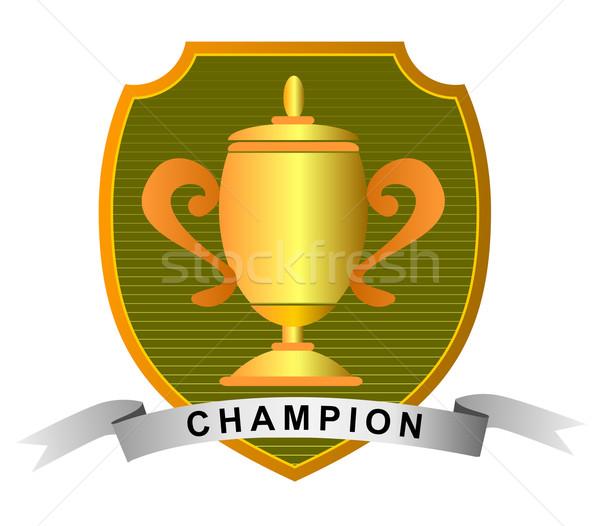 чемпионат Кубок чемпион иллюстрация трофей набор Сток-фото © patrimonio