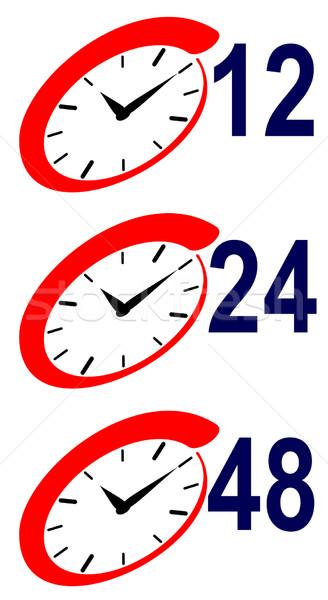 12 24 hora assinar relógio ilustração Foto stock © patrimonio