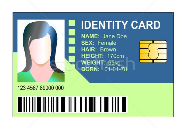 Kadın kimlik kartı örnek yalıtılmış beyaz Stok fotoğraf © patrimonio